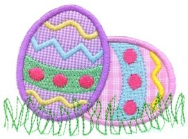 A Couple Of Good Eggs Easter Applique