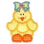 Little Chick Applique Design