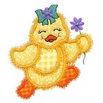 Dancing Chick Applique Design