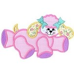 Poofy Poodle Applique Design