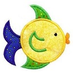 FIshy Fishy Applique Design ~Includes Two Sizes!