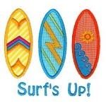 Surfboard Applique Design