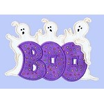 Halloween Boo Trio Applique Design