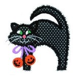 Halloween Cat Applique Design