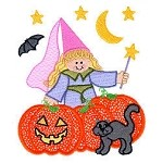 Halloween Fairy Applique Design