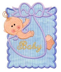 Baby Boy Stamp Applique Design