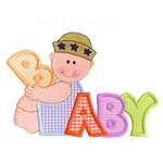 Baby Boy Word Applique Design