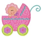 Baby in Bonnet Applique Design