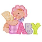 Baby Girl Word Applique Design