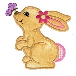 Bunny Bliss Applique Design