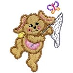 Butterfly Bunny Applique Design