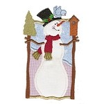 Snowy Bird Applique Design