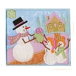 Snow Friends Applique Design