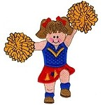 Cheerleader Applique Design