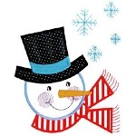 Frosty Little Friend Applique Design
