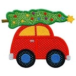 Christmas Tree Car Applique Design