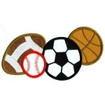 Sports Balls Applique Design