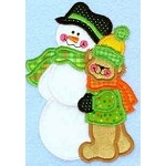 Snowy Little Hug Applique Design