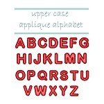 Upper Case Applique Alphabet