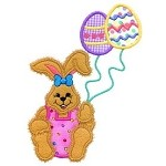 Bunny Balloon Applique Design