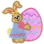 Bunny Big Egg Applique Desig