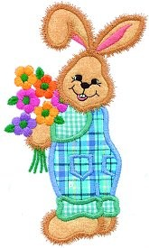 Bunny Bouquet Applique Design