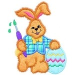 Bunny Paint Egg Applique Design