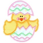 Chick Egg Applique Design