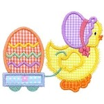 Chick Wagon Applique Design