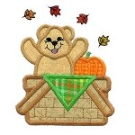 Basket Bear Applique Design