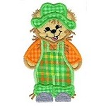 Scarecrow Bear Applique Design
