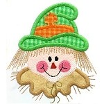 Scarecrow Face Applique Design