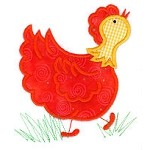 Chicken Applique Design