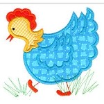 Chicken 2 Applique Design