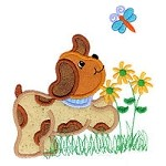 Puppy Dog Applique Design
