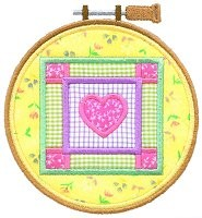 Embroidery Hoop Quilt Square Applique Design