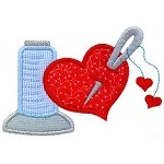Thread Heart Applique Design