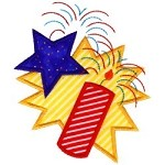 Firecracker Star Applique Design