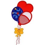 Patriotic Balloons Applique Design