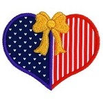 Patriotic Heart Applique Design