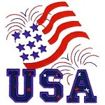 USA Flag Applique Design