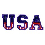 USA Split Applique Design