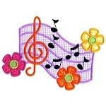 Musical Scale Applique Design