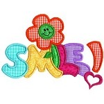 Smile Applique Design
