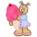 GW Ice Cream Gingerbread Applique Design