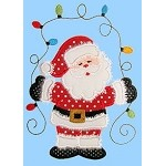 Santa Lights Applique Design