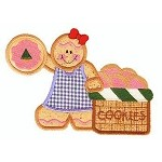 Gingerbread Basket Applique Design