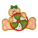 Peppermint Gingerbread Applique Design
