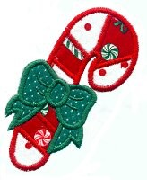 Candy Cane Applique Design