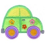 Beetle Bug Car Applique Design